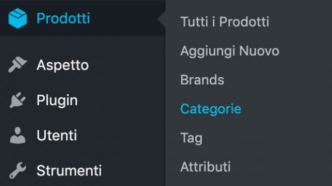 WooCommerce: creazione categorie