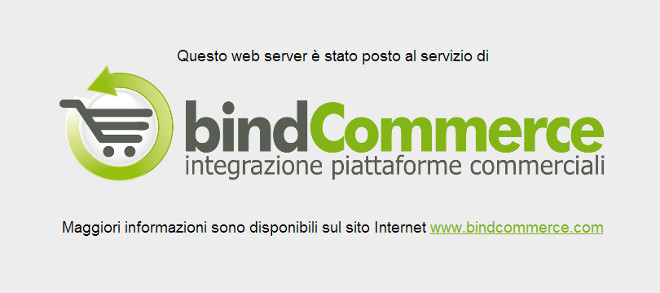 web server bindcommerce per foto e gallery